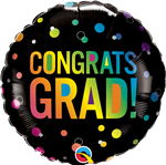Qualatex 98488 Congrats Grad Ombre Dots Foil
