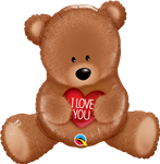 "35"" I LOVE YOU TEDDY BEAR FOIL"