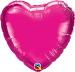 "Qualatex 99339 04"" Heart Magenta Foil"