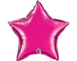 "Qualatex 99341 4"" Magenta Foil Balloon"