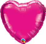 "Qualatex 99342 9"" Heart Magenta Foil"