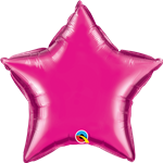 "Qualatex 99344 9"" Star Magenta Foil"