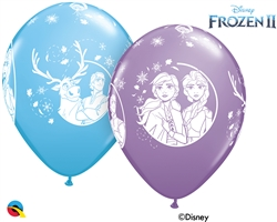 "12"" RETAIL FROZEN 2 LATEX (6 BAGS OF 6 BALLOONS PER BAG"