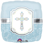 "18"" ROUND COMMUNION BLESSINGS BLUE FOIL"