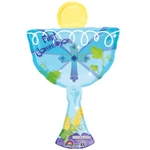 "20"" SUPER SHAPE 1ST COMMUNION CHALICE SHAPE BLUE"