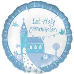 "18"" 1ST HOLY COMMUNION BLUE CHURCH"