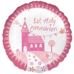 "18"" 1ST HOLY COMMUNION PINK CHURCH"