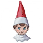 "16"" X 38"" ELF ON THE SHELF SHAPED HEAD FOIL"