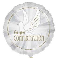 "18"" Confirmation Foil Balloon Ireland"
