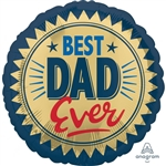 Amscan Anagram 4096401 Best Dad Foil