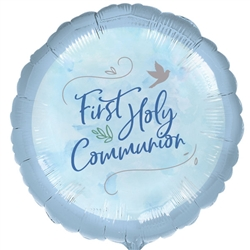 "18"" First Holy Communion Blue Foil Ireland"