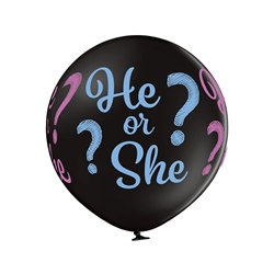 "24"" He or She Gender Reveal Latex Balloons Ireland"