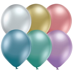 "Belbal 11"" Glossy Assorted Latex Balloons Ireland"