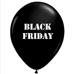 Black Friday Latex Balloons