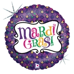 "18"" MARDI GRAS CELEBRATION FOIL"