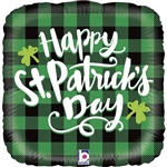 "GRABO 36930-P 18"" SQUARE ST PAT'S PLAID"