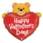 "37"" BIG HEART VALENTINE BEAR FOIL"