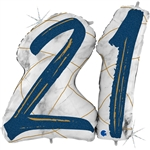 "43"" MARBLE MATE NUMBERS 21 BLUE FOIL"