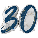 "43"" MARBLE MATE NUMBERS 30 BLUE FOIL"