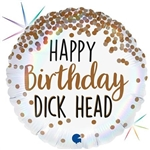 "18"" HAPPY BIRTHDAY DICK HEAD FOIL"