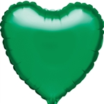 "18"" GREEN HEARTS PACKAGED FOIL"