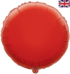 "18"" RED ROUND PACKAGED FOIL"