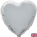 "18"" SILVER HEART PACKAGED FOIL"