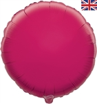 "18"" FUCHSIA ROUND PACKAGED FOIL"