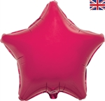 "19"" FUCHSIA STAR PACKAGED FOIL"