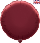 "18"" BURGUNDY ROUND PACKAGED FOIL"