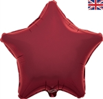 "19"" BURGUNDY STAR PACKAGED FOIL"