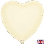 "18"" IVORY HEART PACKAGED FOIL"