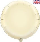"18"" IVORY ROUND PACKAGED FOIL"