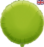 "18"" LIME GREEN ROUND PACKAGED FOIL"