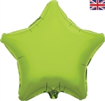 "19"" LIME GREEN STAR PACKAGED FOIL"