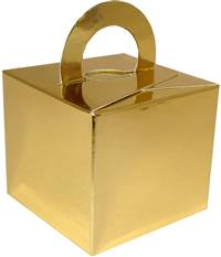 GIFT BOX WEIGHT FLAT GOLD (10 PER PACK)