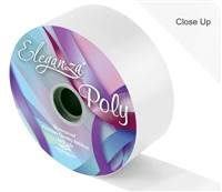 ELEGANZA POLY RIBBON WHITE 50MM X 91M (100YDS)