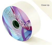 ELEGANZA POLY RIBBON IVORY 50MM X 91M (100YDS)