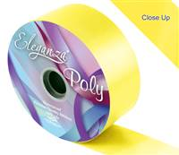 ELEGANZA POLY RIBBON YELLOW 50MM X 91M (100YDS)
