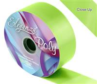 ELEGANZA POLY RIBBON LIME GREEN 50MM X 91M (100YDS)