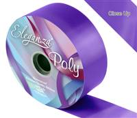 ELEGANZA POLY RIBBON PURPLE 50MM X 91M (100YDS)