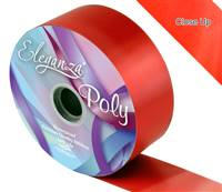 ELEGANZA POLY RIBBON RED 50MM X 91M (100YDS)