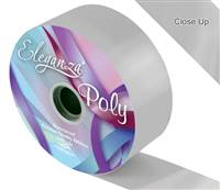 ELEGANZA POLY RIBBON SILVER 50MM X 91M (100YDS)