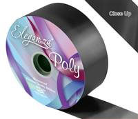 ELEGANZA POLY RIBBON BLACK 50MM X 91M (100YDS)