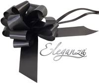ELEGANZA POLY PULL BOWS 50MM BLACK (20 PER PACK)