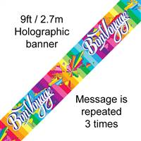 BANNER 9FT BON VOYAGE METALLIC