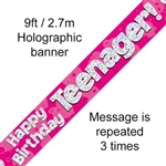BANNER 9FT TEENAGER PINK