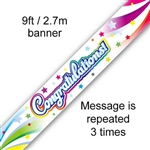 BANNER 9FT CONGRATULATIONS SWIRL