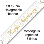 BANNER 9FT HAPPY ANNIVERSARY