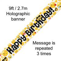 BANNER 9FT EMOJI BIRTHDAY